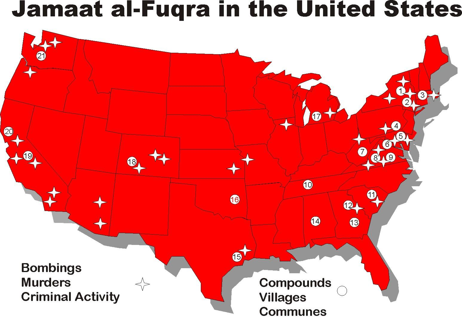 Explosive Documentary Islamic Terrorist Camps Inside The US Is - Map of 98 us designated terrorist groups location