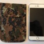 Mobile Phone Signal Blocking Faraday Bag Camo iPhone 6 Plus Note 4