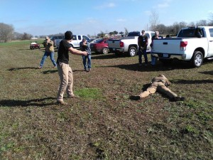 CATI and CTM will train citizens how to interact with police, including what to do when police respond after a pistol is used in self defense. Image courtesy of Central Texas Militia.