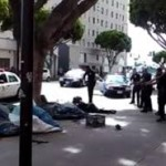 Homeless Man Shot While On His Back And Being Tazed!