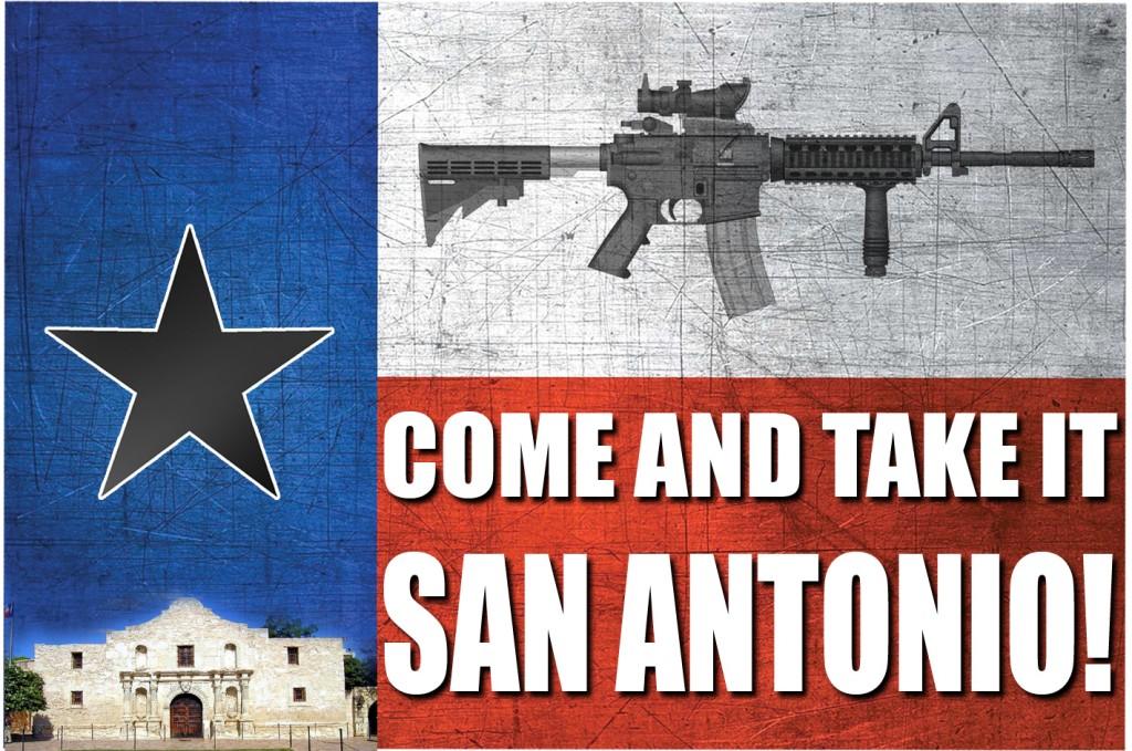 CATI San Antonio flag alamo