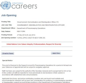 UN Gun Grab Jobs