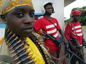 Shoot on sight for illegal crossings of border ... Liberian military forces stand guard. Source: AFP