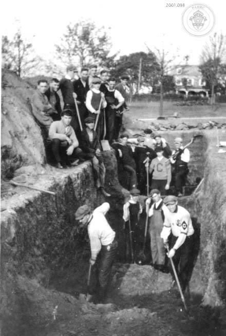 A student at St. Charles Borromeo Seminary in Pennsylvania captured this picture of a mass grave being prepared for victims of the 1918 Flu Epidemic