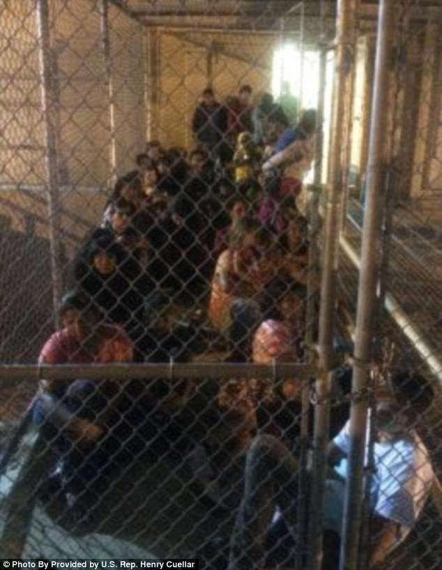 Initially, even members of Congress were not allowed to visit Obama's 'Dreamer' kennels, even in their own states.  Later, DHS allowed legislators to visit but required them to make an appointment weeks in advance and ordered them not to  bring cellphones or cameras.  Congressman Henry Cuellar leaked this photo that he took secretly during a visit.