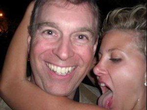 Prince Andrew and Victoria Roberts
