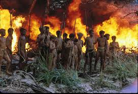 """In William Golding's """"Lord of the Flies,"""" a group of school children get stranded on an island and within a matter of days are burning the forest down and killing each other.  The moral to the story is that we need a governing authority to set rules and regulations because we are fundamentally primitive, wicked beings.  Image: IMDB.com"""
